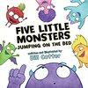 読みやすいおすすめ英語絵本ビル・コッターの「Five Little Monsters Jumping on the Bed」