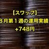 【スワップ】8月第1週の運用実績は+748円でした。