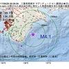 2017年08月28日 06時06分 三重県南東沖でM4.1の地震