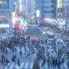 「渋谷のスクランブル交差点」を簡単な英語で説明する