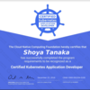 Certified Kubernetes Application Developer(CKAD)を取得した(19/12 v1.16)