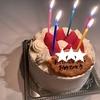 母の誕生日のお祝い。