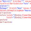 以前イベントで処理していたのをBindingにしてC#とXAMLで書いてみた