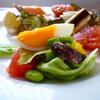 お盆のあとの野菜サラダランチ