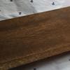 ワトコオイルで塗装した板で棚板を作ってみた