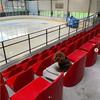 スイスのリンクで練習を見学してるトロちゃん、応援よろしくね!