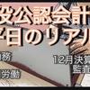 【現役公認会計士】平日のリアル(1月〜12月決算監査)