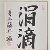 藤井猛棋士の揮毫色紙「涓滴」(竜王当時)