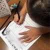 長女の夏休みの宿題  朝顔の絵日記でようやく仕上げです😌
