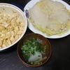 白菜ミルフィーユ、かぶの吸い物、キャベツゴママヨ