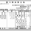 株式会社レオハウス 第13期決算公告
