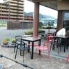 明日のcafeさくらのsoto cafeの準備 アジサイの花
