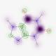 分子記述子への各原子の寄与率を可視化する