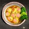 【カレーアート】③日目/カレースープのウィンナーロールキャベツ