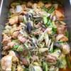 鶏肉とキャベツ、インゲンのコチュジャンマリネ