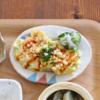 【離乳食・幼児食】豆腐のふわふわお好み焼きレシピ