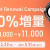 ハピタスのポイント交換はポレットがおすすめ!10%増量で10000円が11000円になる!