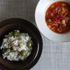 34冊目『31日分の定食カレンダー』から2回めは鯛とオリーブの炊き込みごはん定食