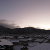 初雪景色2020京都