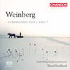 ヴァインベルク、1番と7番の交響曲。