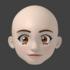 顔のモデリングの超詳細手順 その7 頂点ペイントで着色する!:Blender