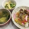 中華丼とマカロニサラダ