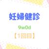 9w0d 妊婦健診【1回目】 子宮腺筋症の疑い