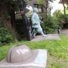 富岡八幡宮境内、伊能忠敬と一緒に三角点「富岡八幡宮」