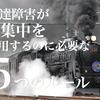 【暴走】発達障害が「過集中」を利用するのに必要な5つルール【機関車】