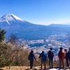 富士山を眺めながら毛無山登山