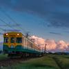 秋の第三若杉踏切:富山地鉄