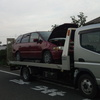 白岡市から遺産相続の車検の切れたパンク車をレッカー車で廃車の引き取りしました。