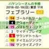 フェブラリーS予想 2018/2/18(日)