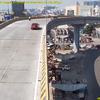 本日のクラッシュ!/Moment car flies off overpass & crashes onto street below in India