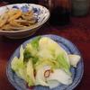 築地の「米花」で蟹、けんちん汁、「ターレットコーヒー」でターレットラテ。