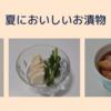 春夏野菜をたくさん食べたい、簡単でおいしいお漬物