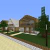 【Minecraft】木のモダンハウスを作る【コンパクトな街をつくるよ32】