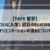 【TAFE留学】ついに入学!初日のELICOSオリエンテーションの流れについて