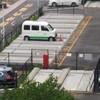 UR団地内の駐車場 バイク置き場