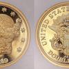 アメリカ1849年20ドル金貨ダブルイーグル試鋳貨(パターン)スミソニアン博物館蔵