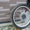 HONDA XR600R タイヤ交換 シンコーSR244