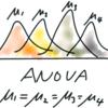 pythonで一元配置分散分析(one way ANOVA)