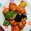 揚げない野菜と肉団子の甘酢あんかけの作り方。