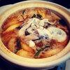 本日の晩酌は牡蠣の味噌鍋と熱燗<おうち居酒屋>