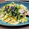 【具だくさんパスタ】たっぷり大葉の和風パスタと冷凍野菜ストックの【秒で作るスープ】