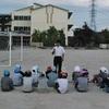 火の舞練習 5年生代表