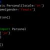 Pythonメモ : mimesisでテストデータを生成する