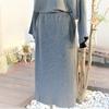 ニットのセットアップ。スカートの縫製編。