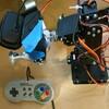 Raspberry pi でロボットアームを動かす その6 ゲームパッドで動かせるようにする