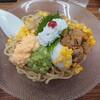 金沢市有松にある福座(ふくぞ)で、夏の麺料理。瀬戸内産の鱧を使用した、鱧の冷やしまぜそばと鱧めし。